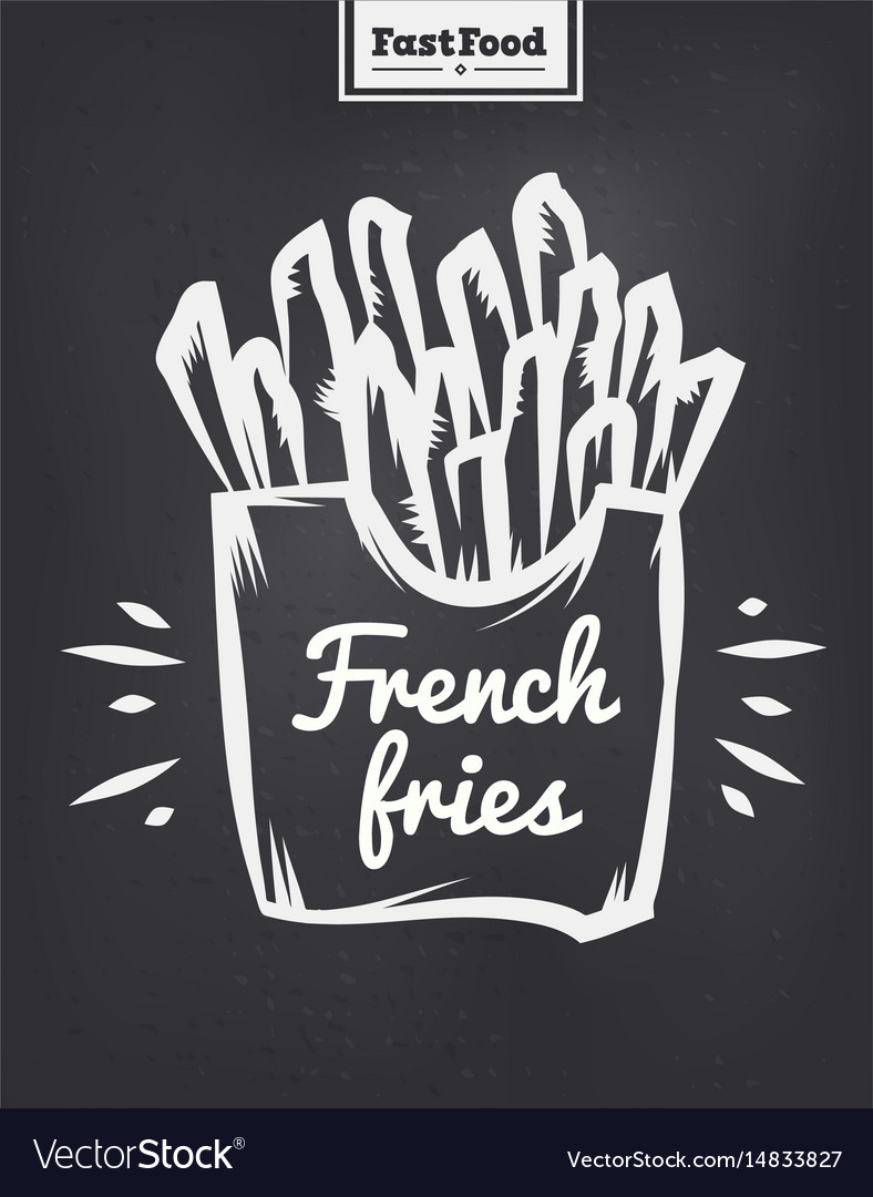 French fries poster with cool design