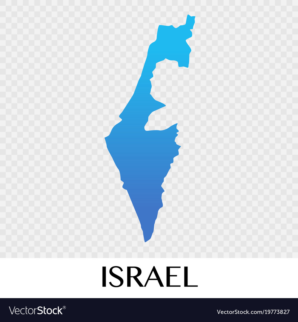 Map Of Asia Israel.Israel Map In Asia Continent Design Royalty Free Vector