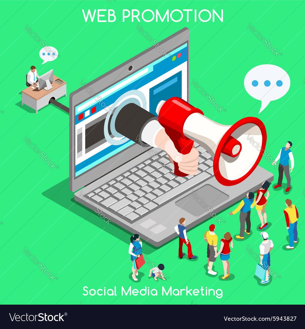 Marketing 01 Concept Isometric vector image