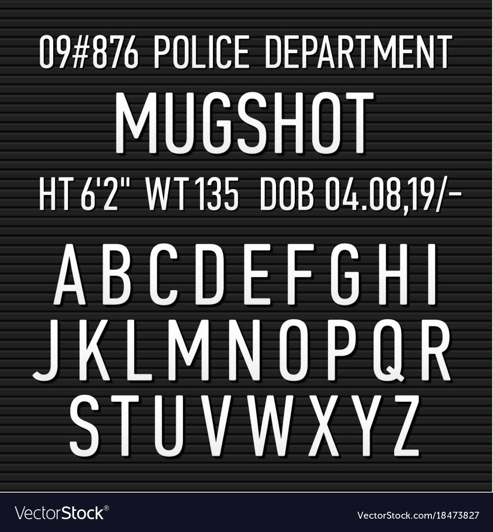 Mug Shot Sign Template