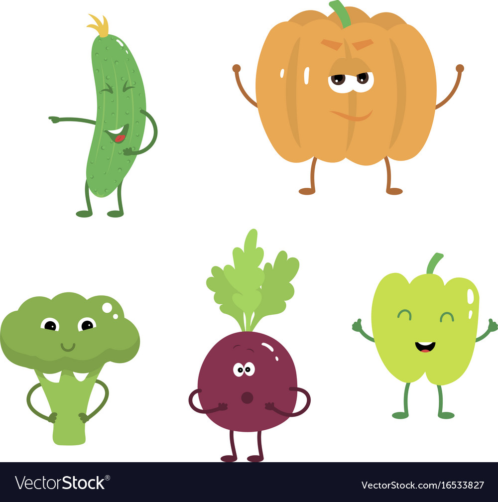 Set of funny characters from vegetables 2