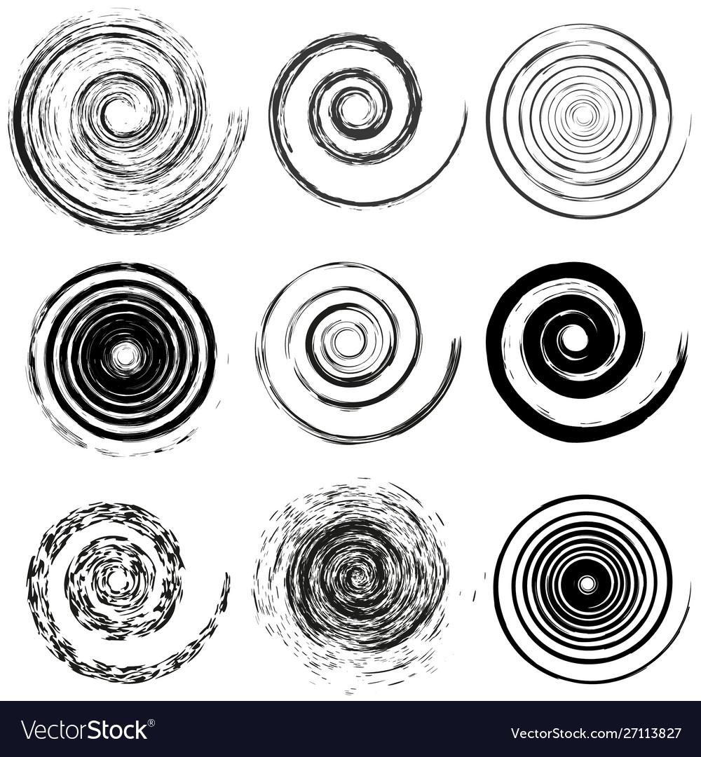 Set spiral and swirl handdrawn motion elements