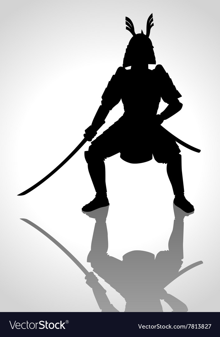 Silhouette of a samurai general