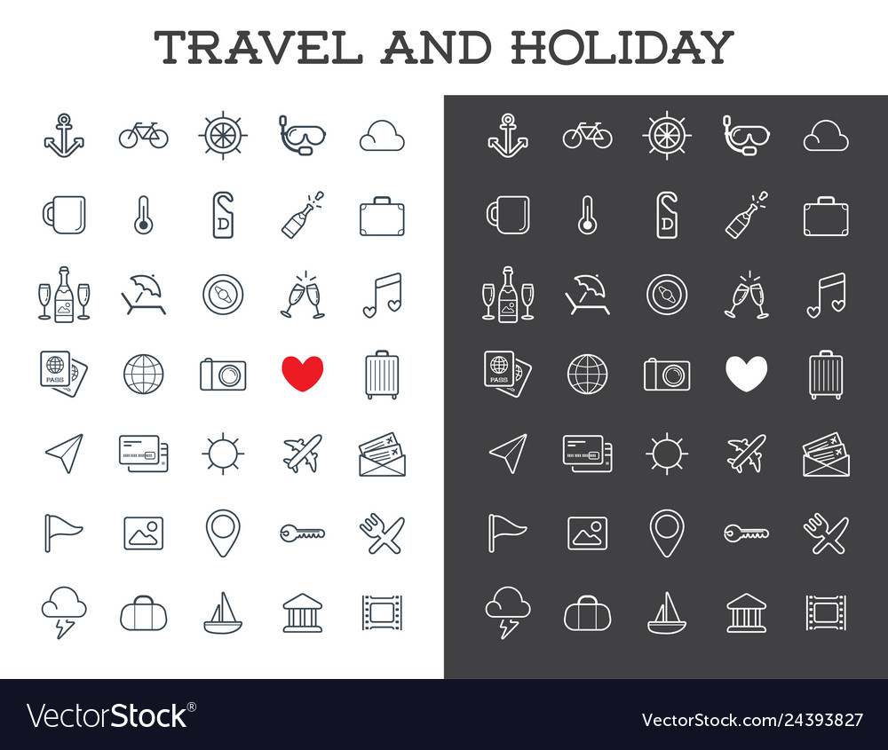 Travel icons set great for all purposes like
