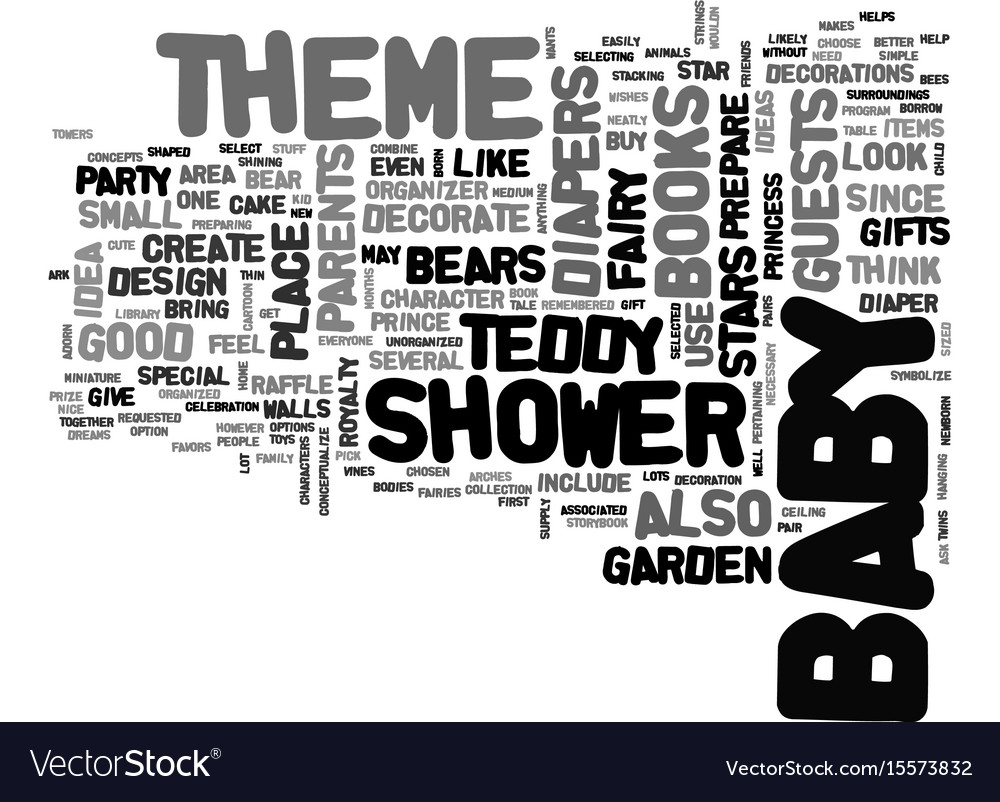 Baby shower theme text word cloud concept vector image