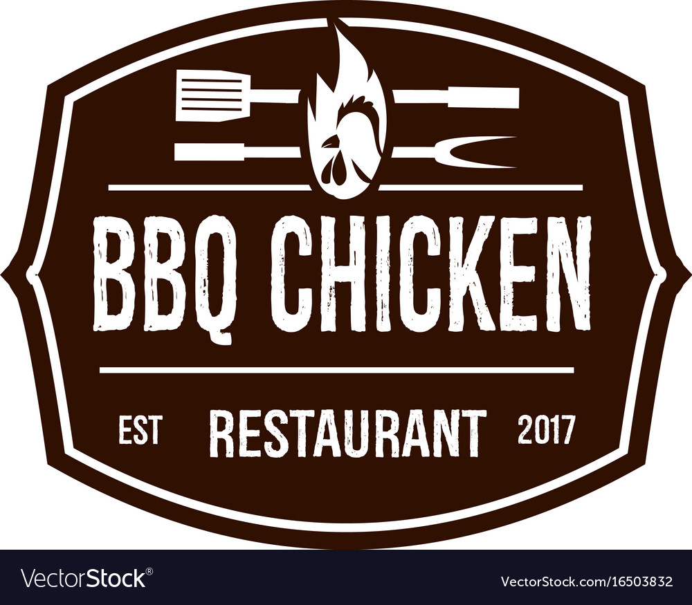 Brown bbq chicken logo