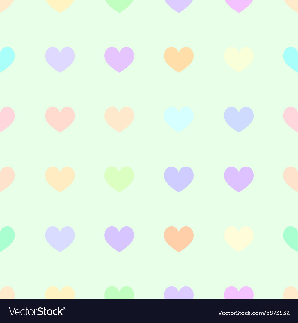 Cute Pastel Rainbow Or Colorful Polka Dot In Heart
