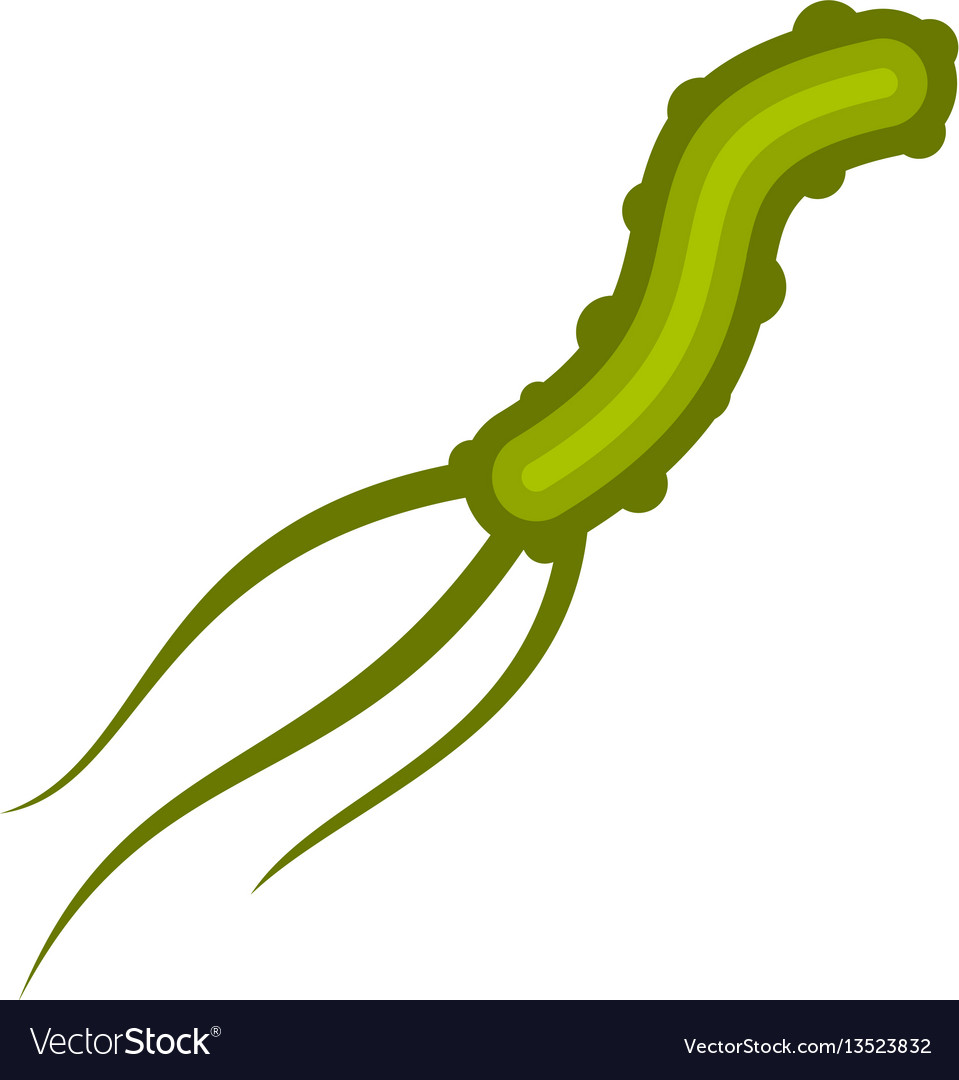 Dangerous virus icon flat style vector image