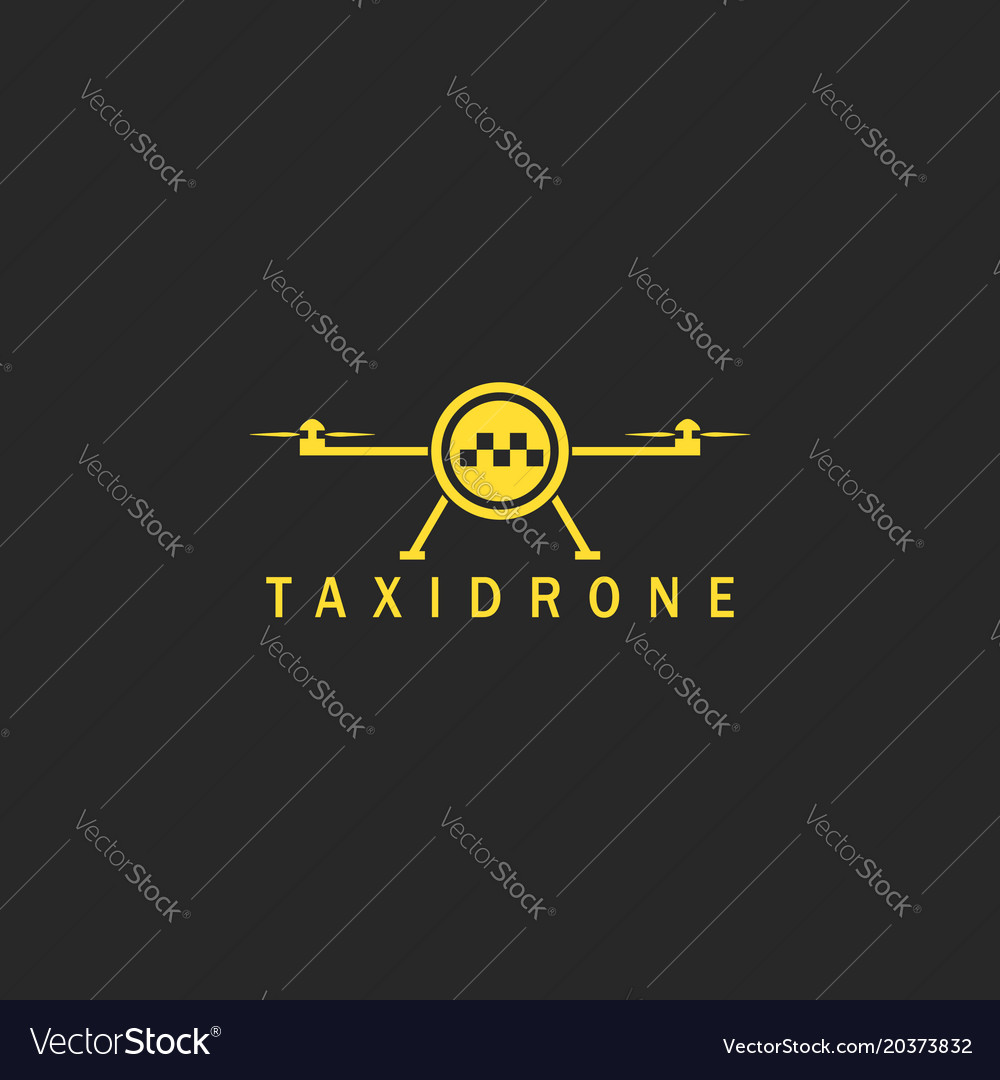 Flying taxi done logo mockup minimal style