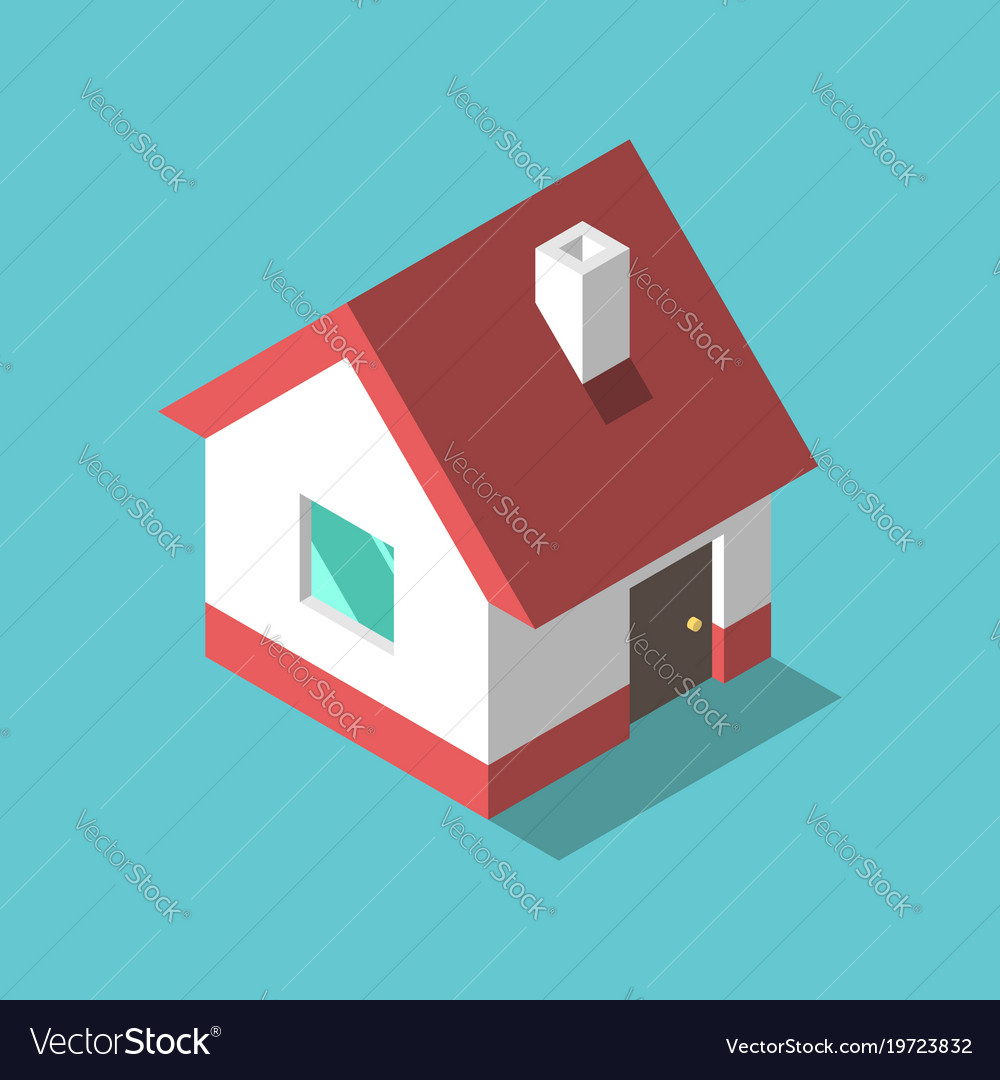 Isometric house flat design Royalty Free Vector Image