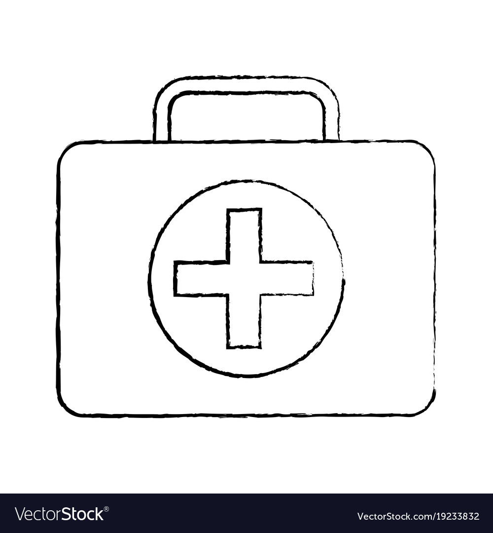 Kit first aid medical emergency equipment vector image