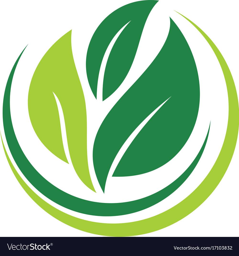Leaf ecology bio logo