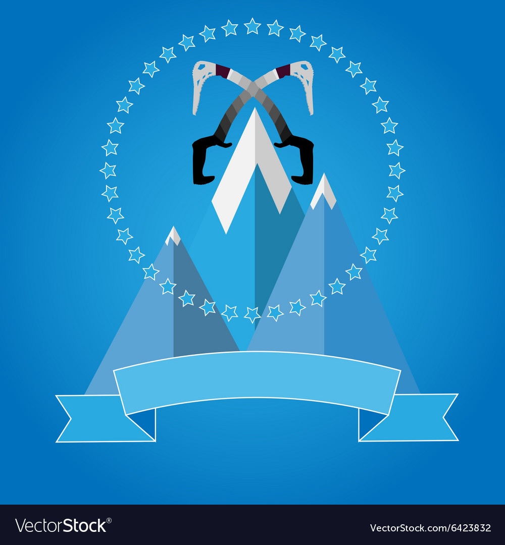 Logo icon badge for mountaineering club