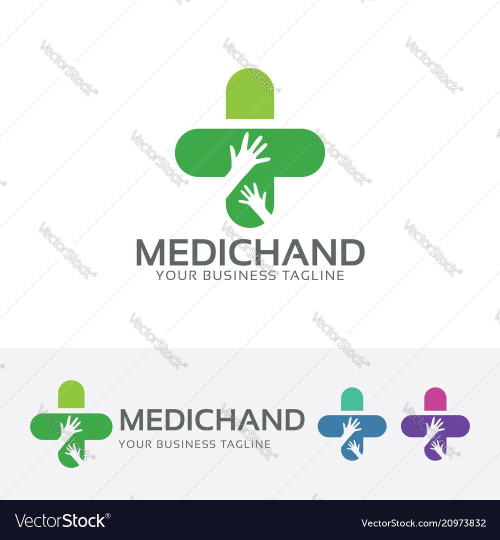 Medical hand logo design