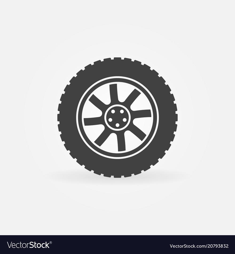Modern car wheel icon or logo element