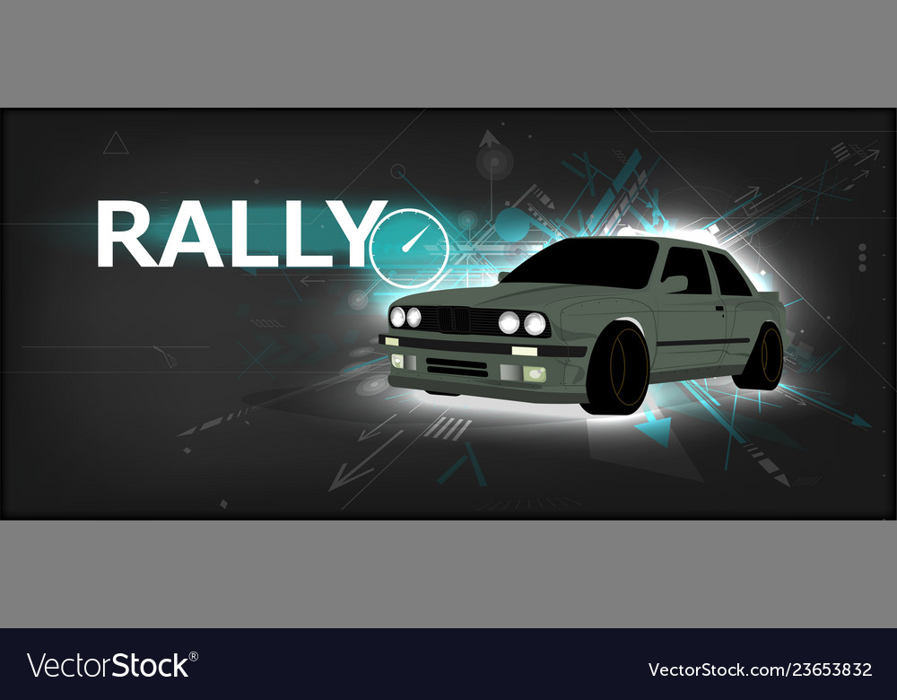 Rally poster detailed sports car