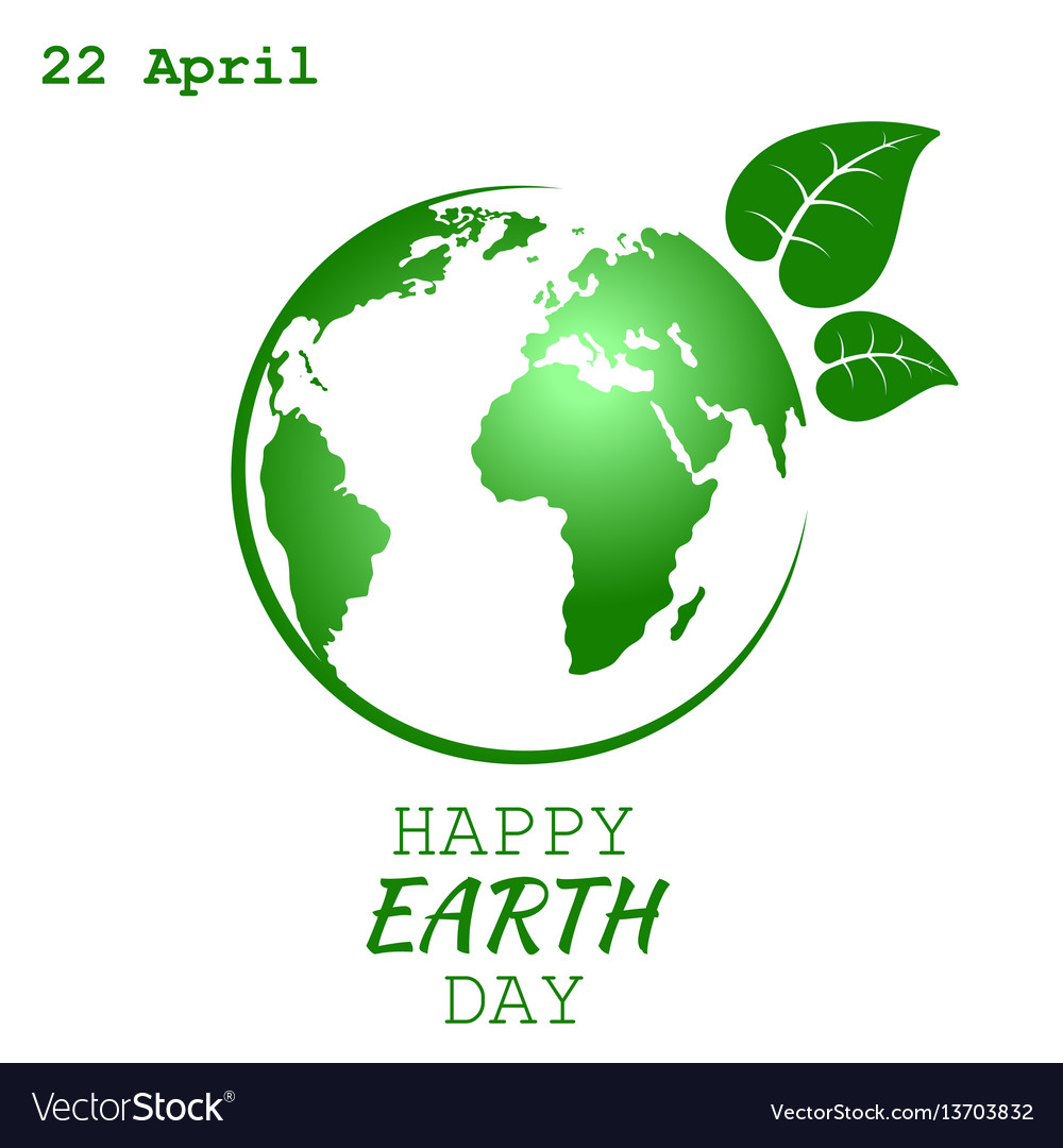 World earth day Royalty Free Vector Image - VectorStock