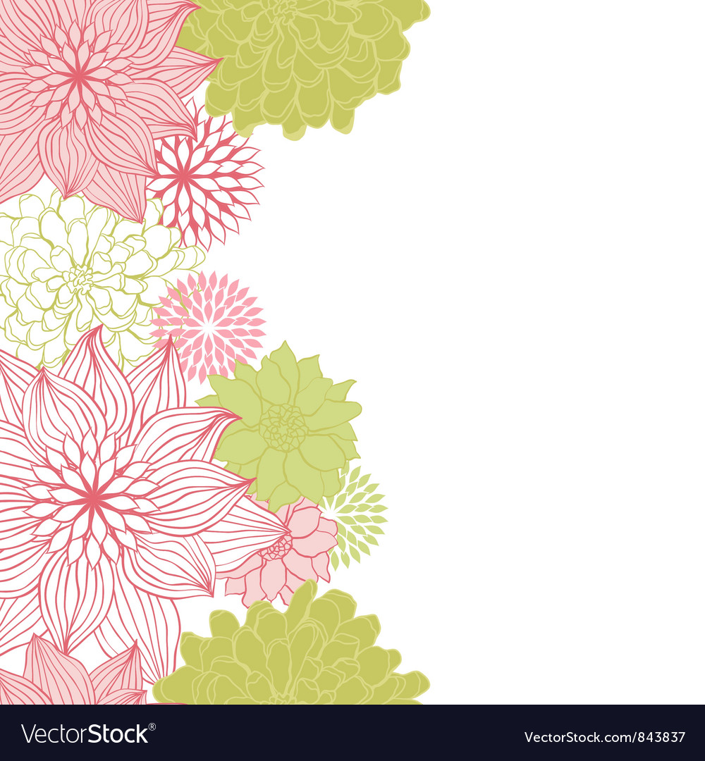 Abstract floral background flower element for