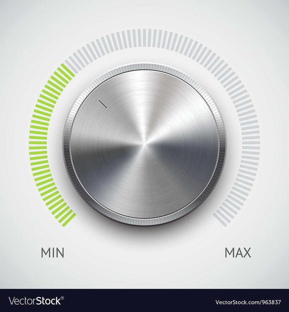 Chrome Volume Knob vector image