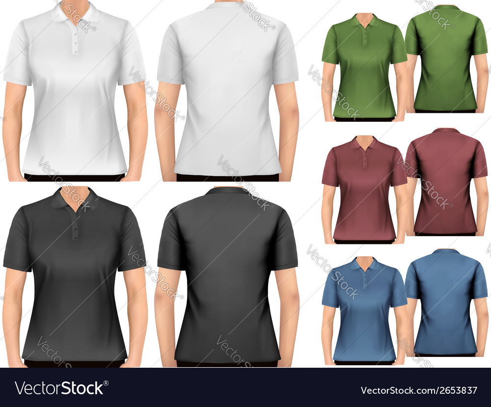 Female Polo Shirts Design Template Royalty Free Vector Image