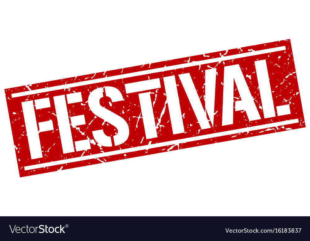 Festival square grunge stamp vector image
