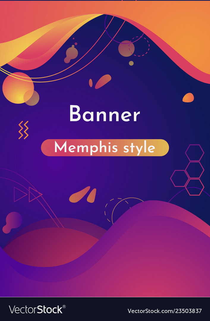 Gradient abstract banners with liquid shapes