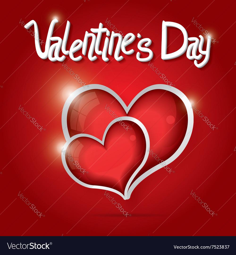 Red Hearts Valentine day background