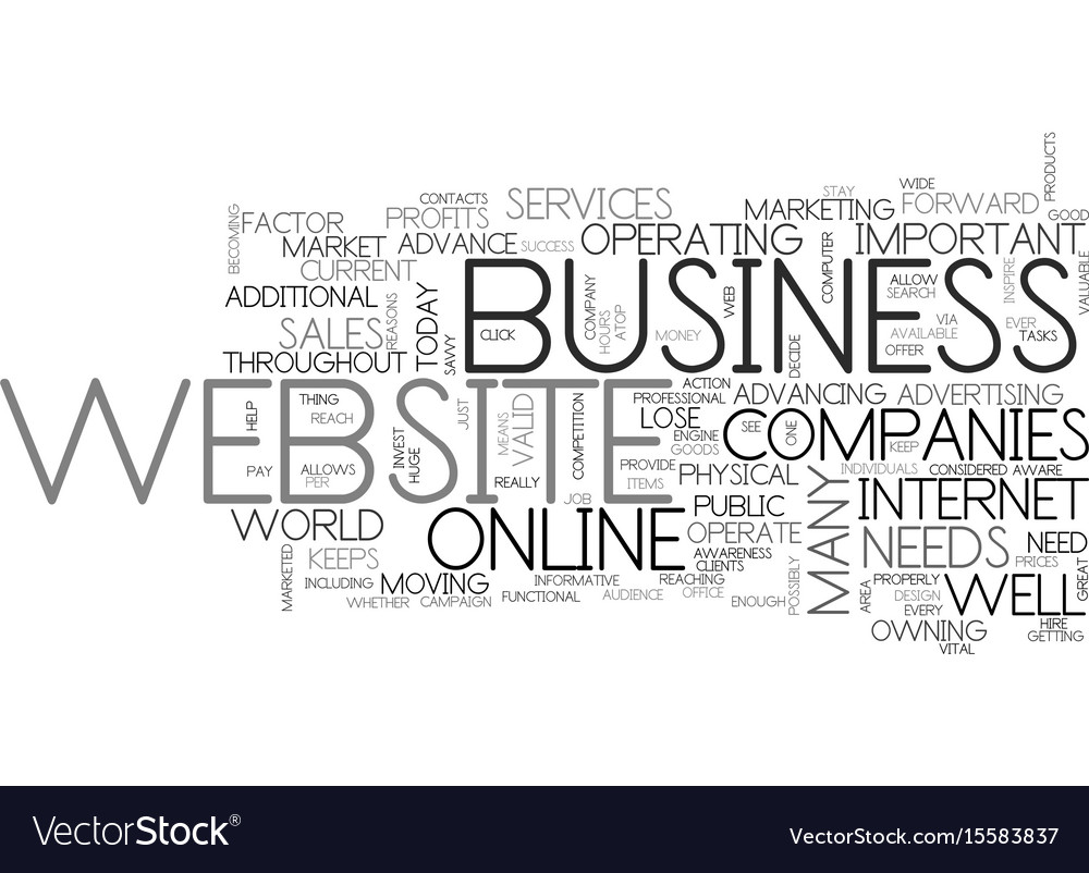 Why have a website text word cloud concept