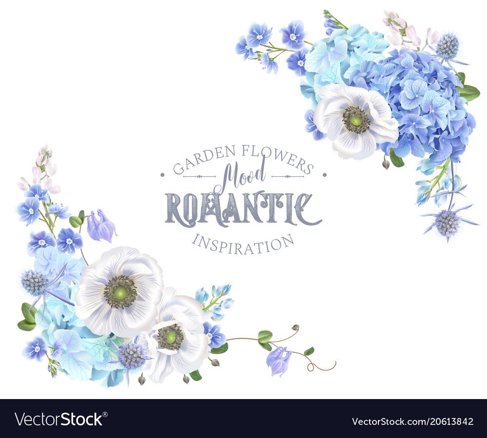 Blue anemone corner banner
