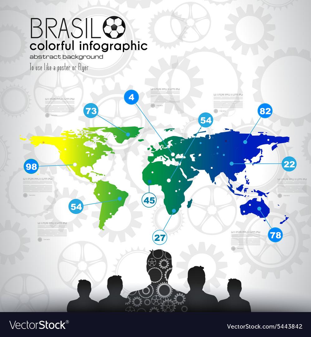 Brasil soccer abstract background for poster