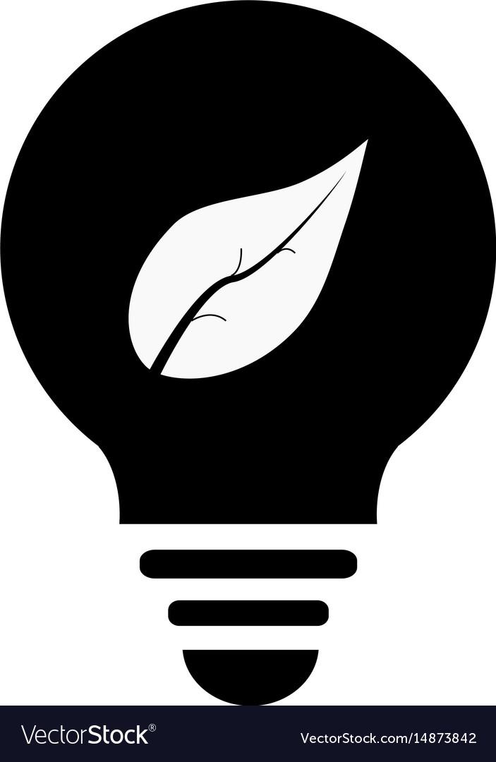 Ecological lightbulb icon ecological lightbulb on