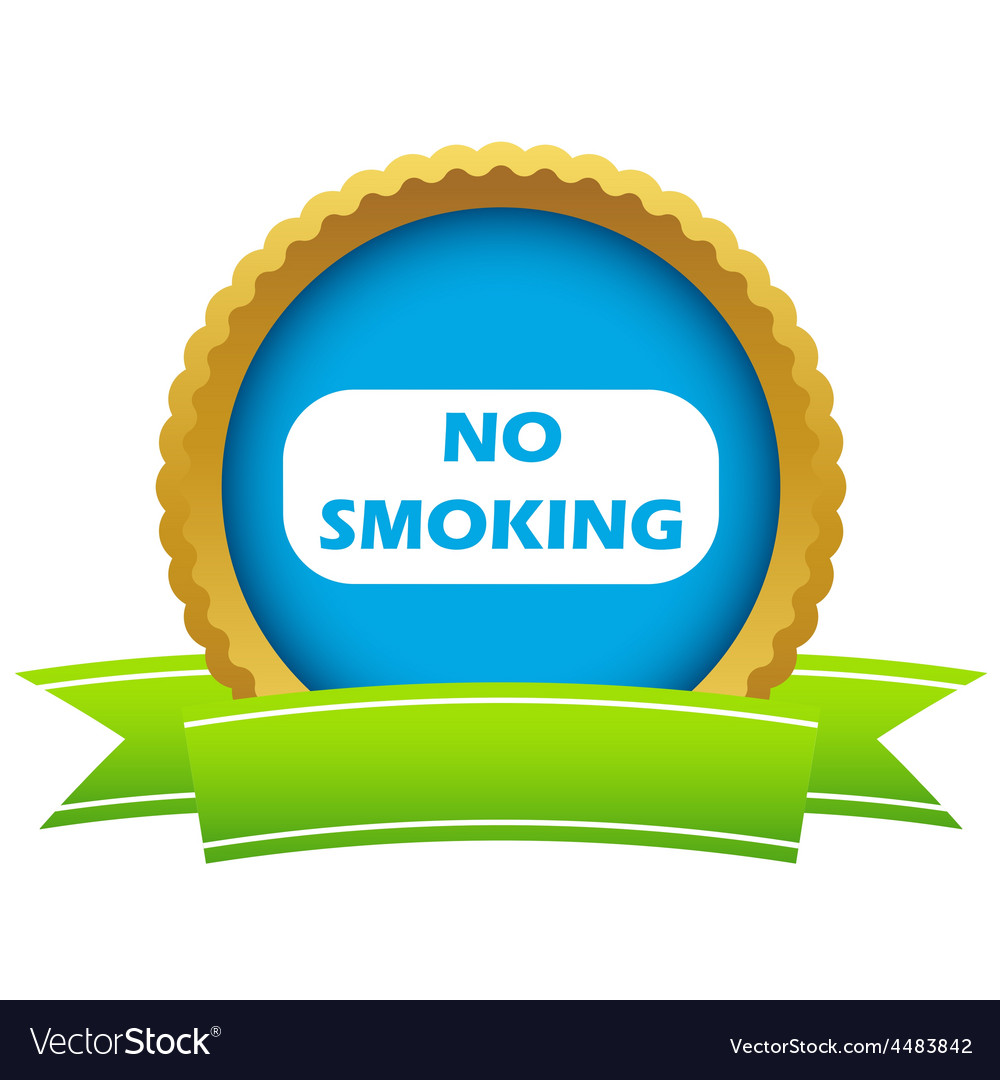 Gold no smoking logo