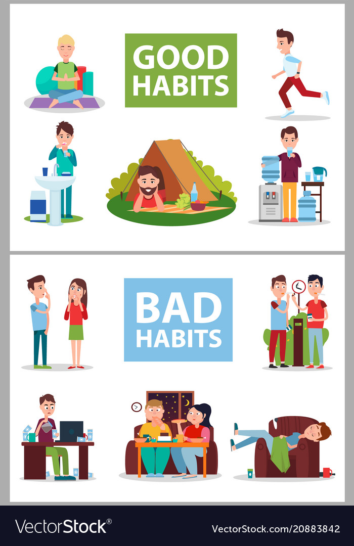Good and bad habits poster
