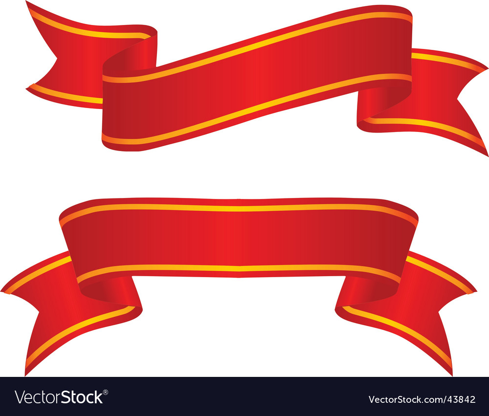 ribbon royalty free vector image vectorstock rh vectorstock com ribbon vector art free download ribbon vector art free download