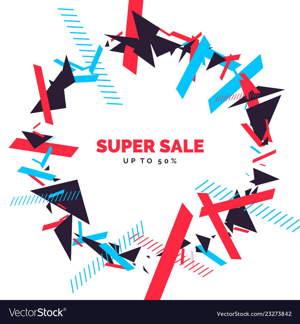 Trendy sale background composition of geometric