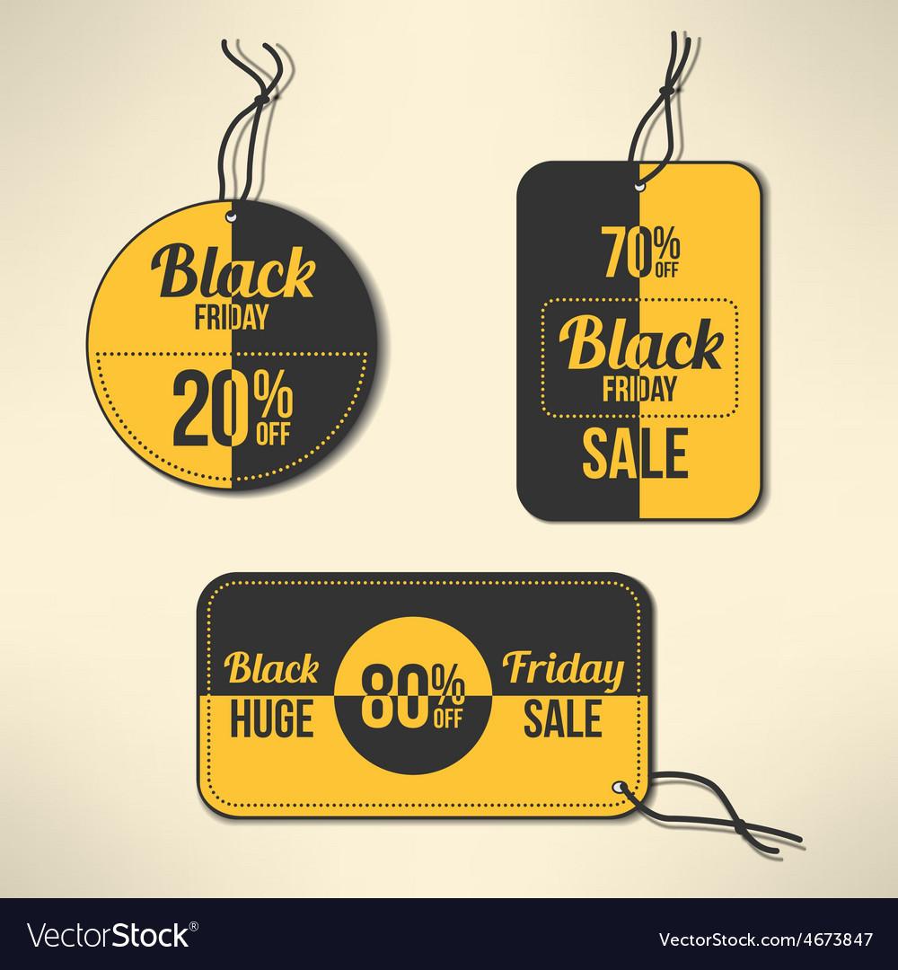 Black friday discount labels set
