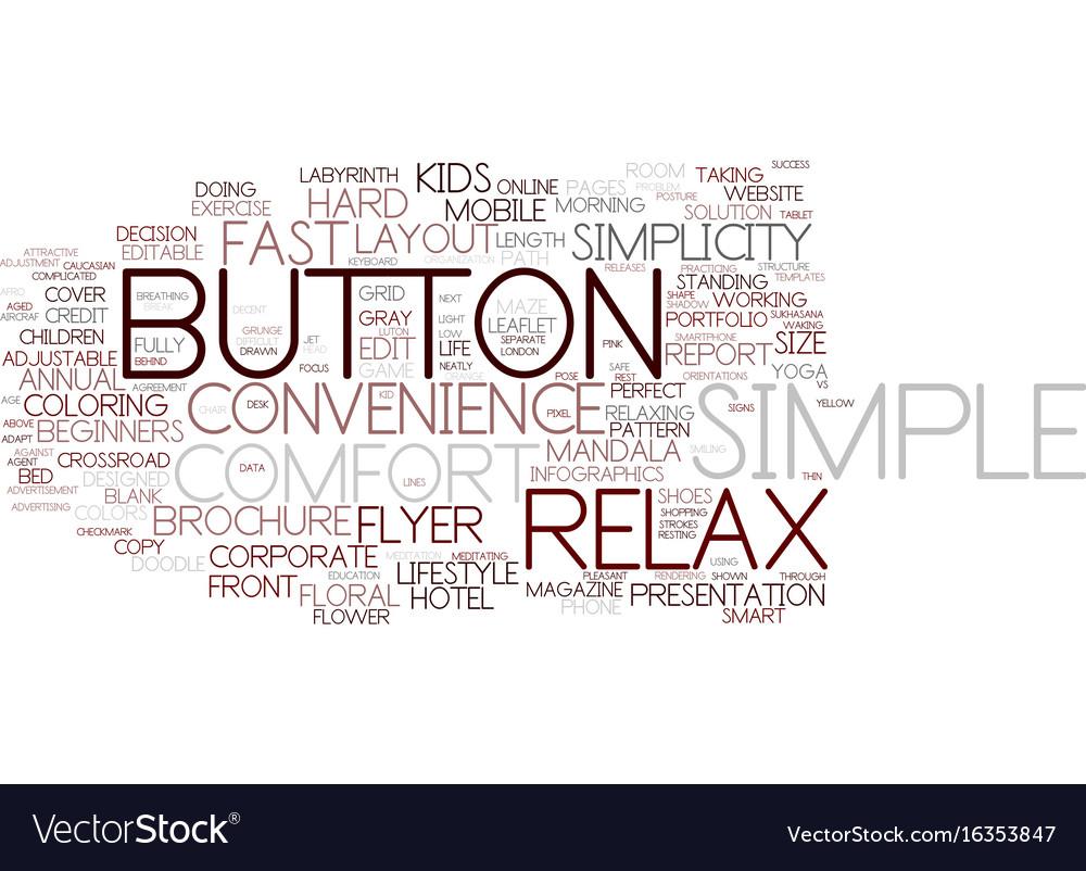Easy word cloud concept vector image