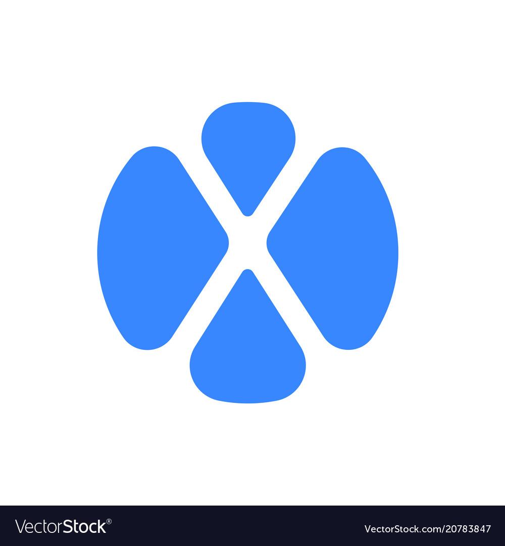 Letter x logo modern blue font icon