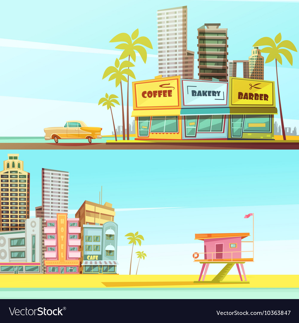 Miami Beach Horizontal Banners