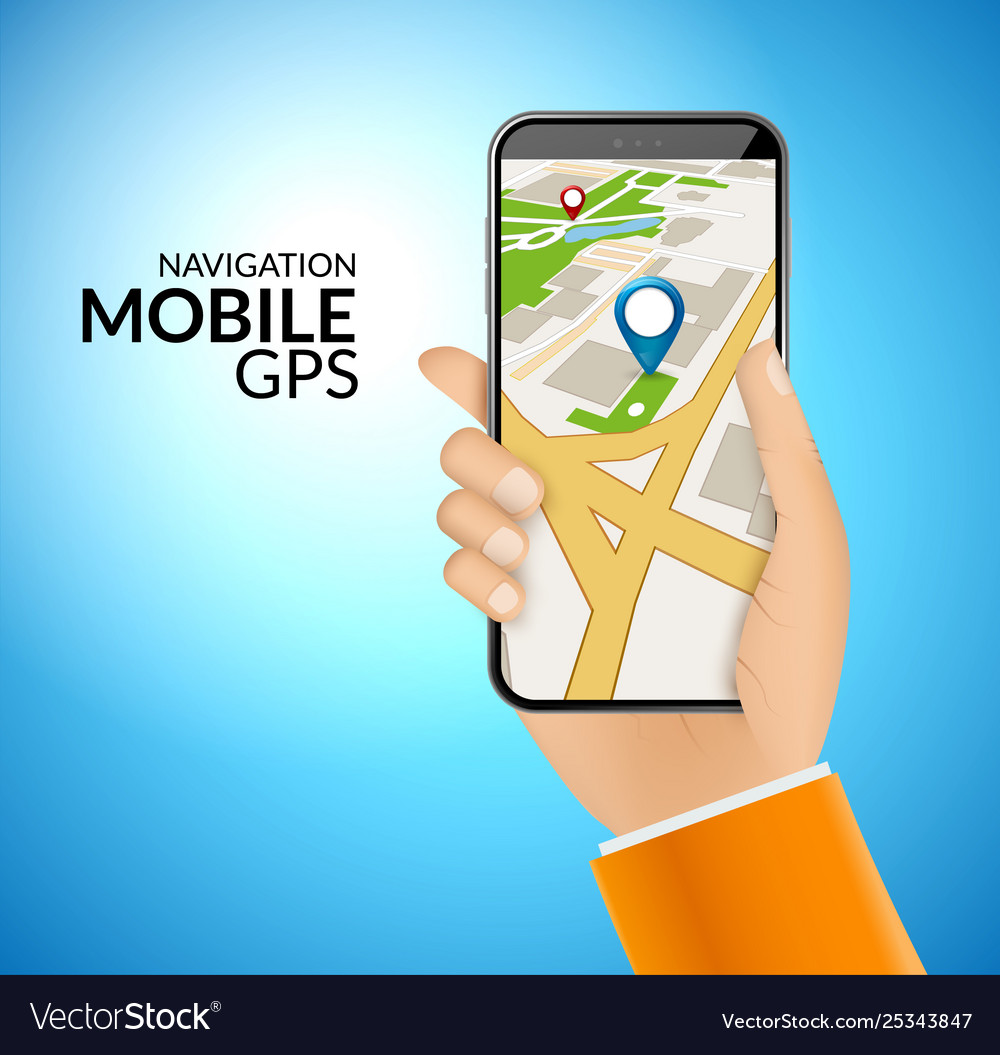 Mobile gps navigation application 3d map