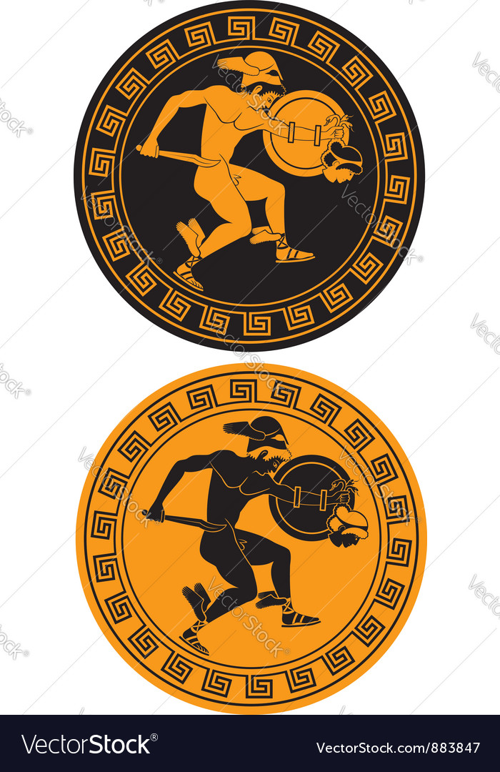 Perseus and the Gorgon Medusa vector image
