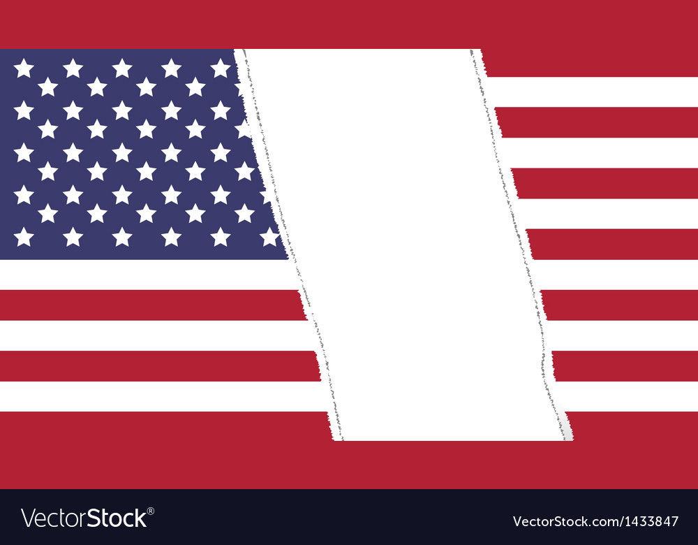 Torn flag vector image