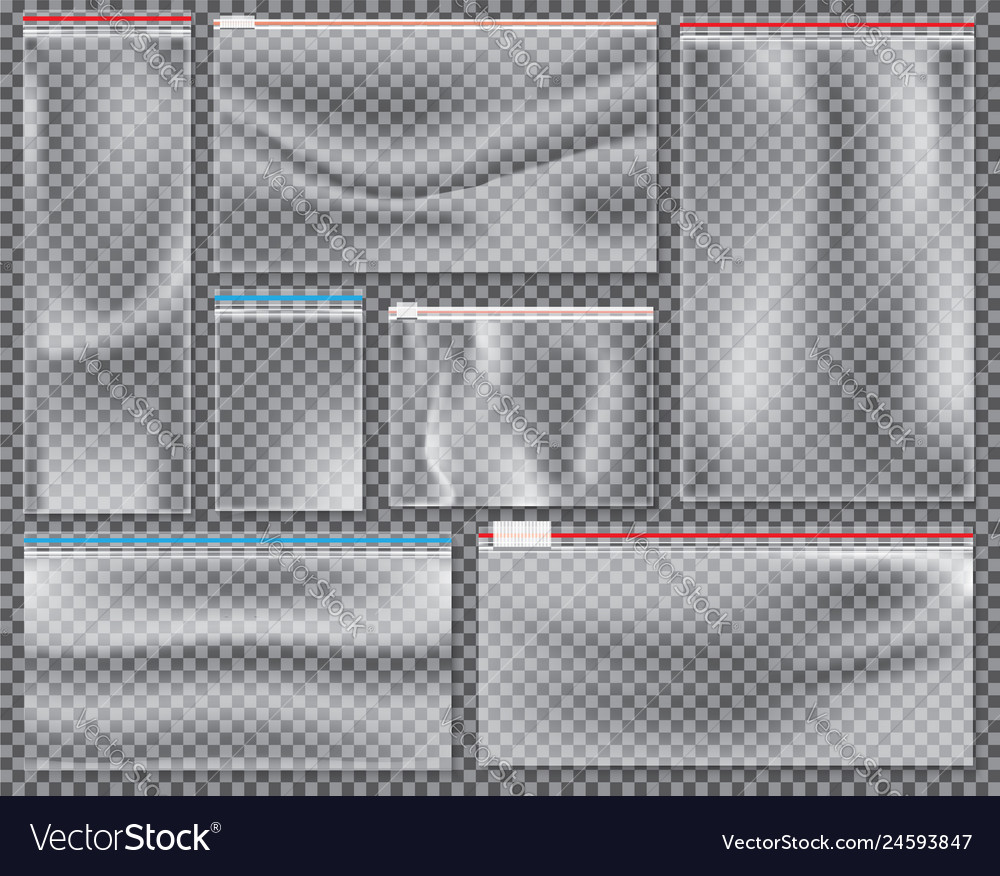 Transparent nylon bag with lock or zip