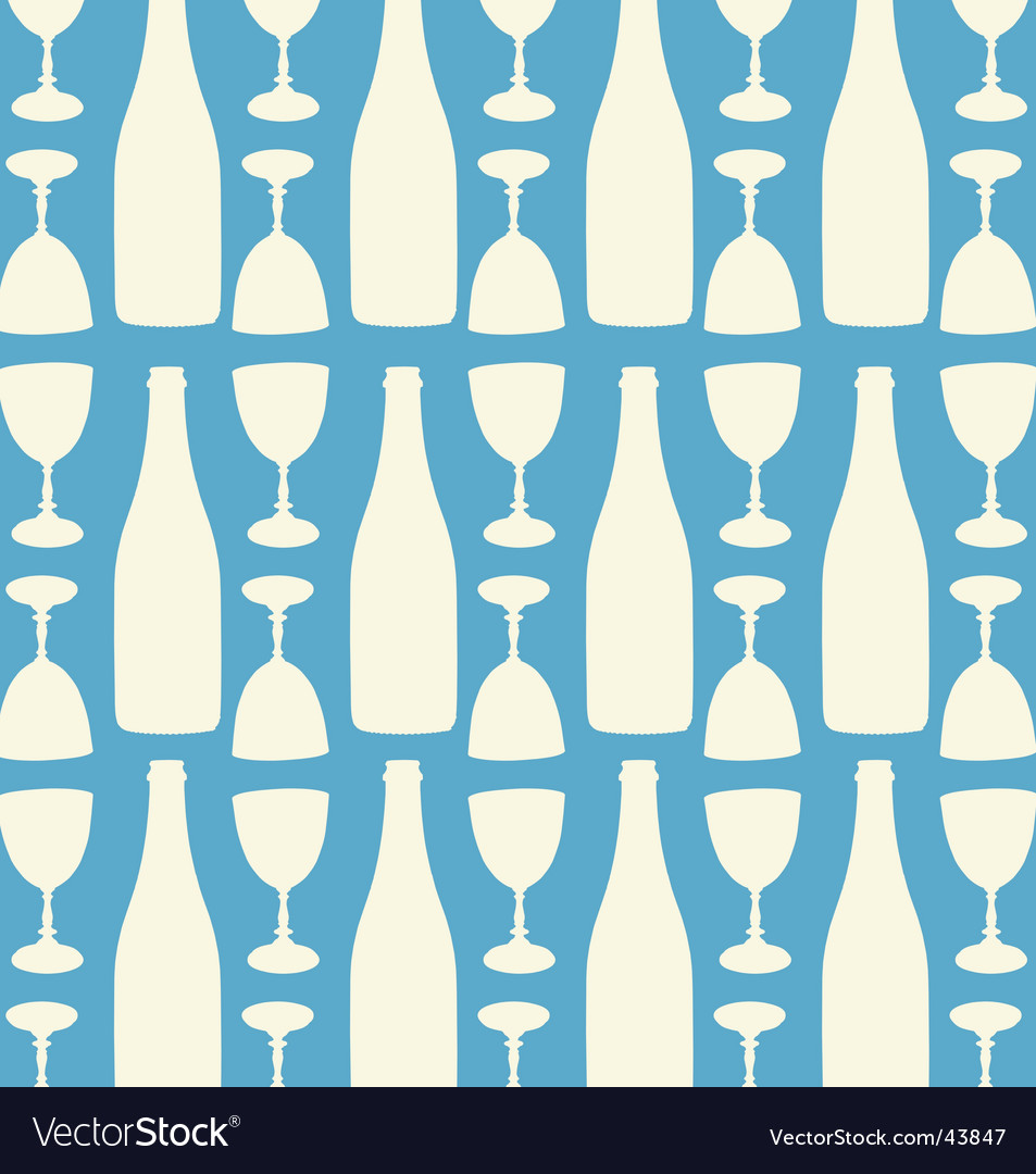 Wine and wine glasses pattern