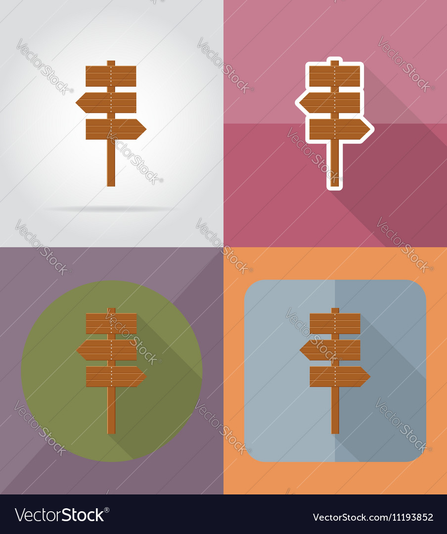 Wooden board flat icons 10
