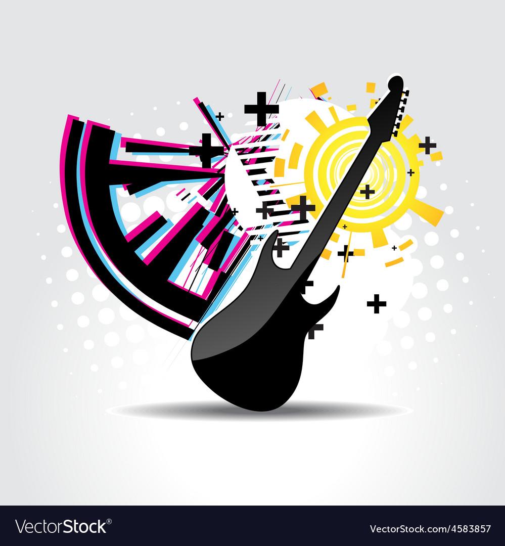 Abstract guitar art