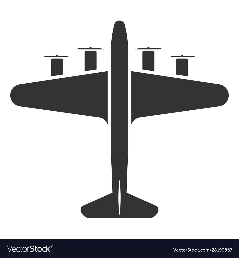 Airplane symbol or aircraft black icon travel