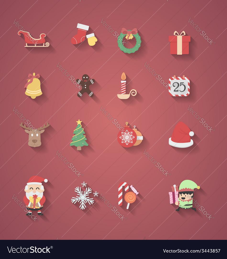 Christmas icon flat design