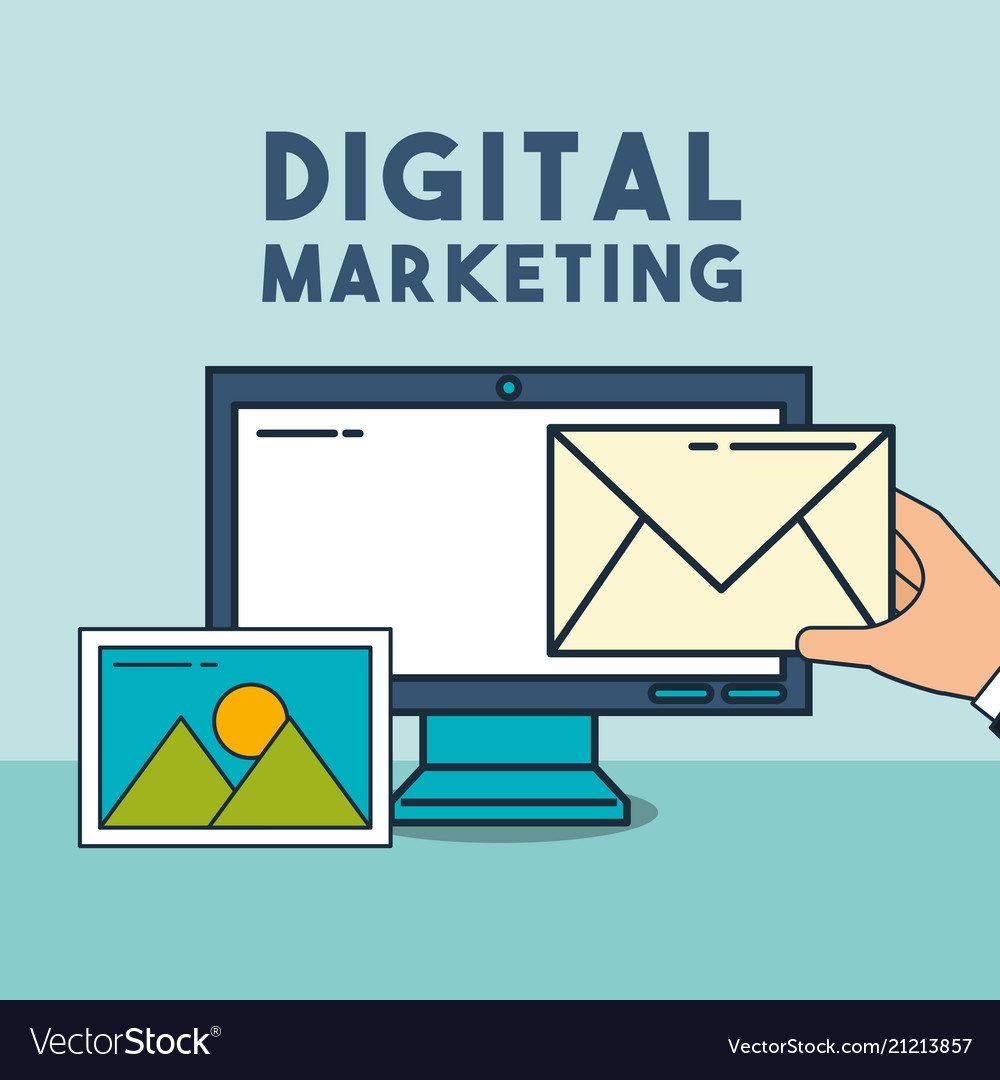 Computer email photo digital marketing