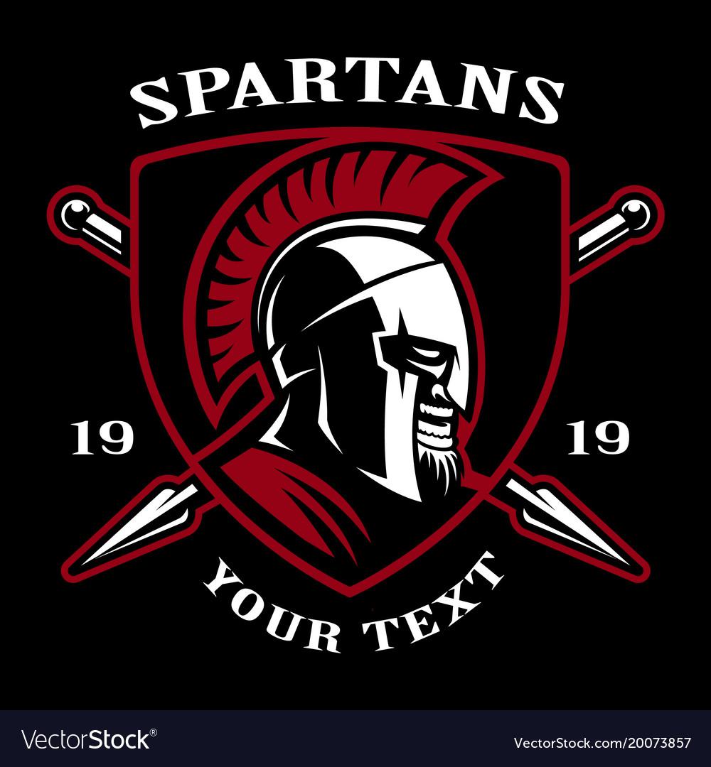 Emblem of spartan warrior